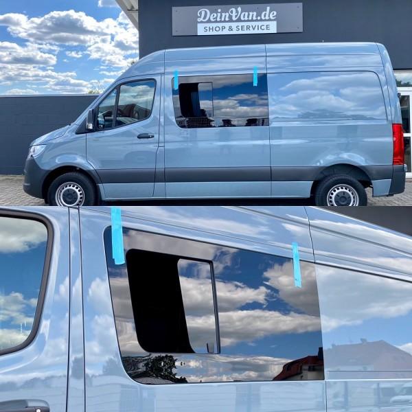 VL Seitenscheibe mit Schiebefenster getönt für Mercedes Sprinter W907, W910 L2-L4