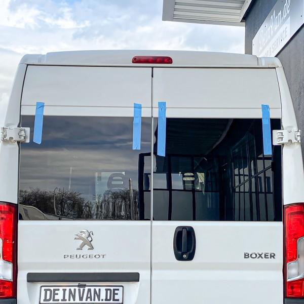 Heckscheiben Set getönt für Peugeot Boxer mit 270° Scharniere