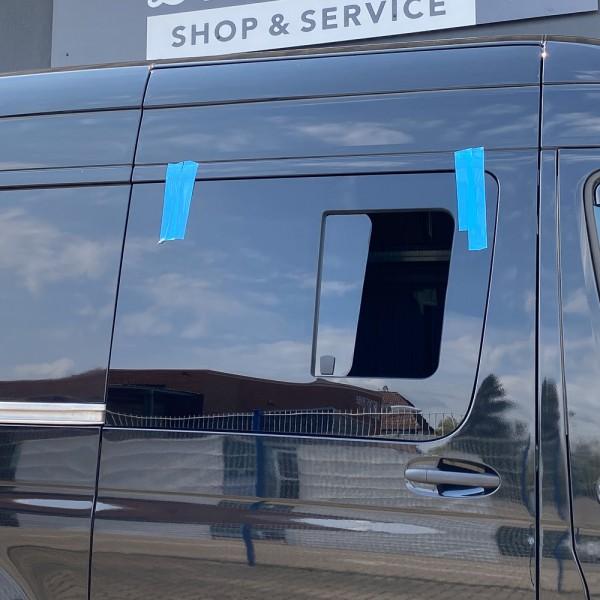 VR Seitenscheibe mit Schiebefenster getönt für Mercedes Sprinter W907, W910 L1