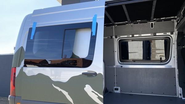 VR Seitenscheibe mit Schiebefenster getönt für Mercedes Sprinter W907, W910 L2-L4